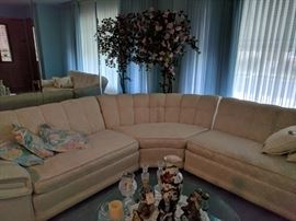 Vintage 3 pc white couch