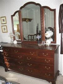 Durham Brand Dresser with Triple Mirror