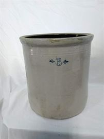 Red Wing Union Stoneware Co, 6 Gallon Crock, small wing logo https://ctbids.com/#!/description/share/47073