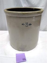 Vintage 6 Gallon Crock, Brown Glaze Interior https://ctbids.com/#!/description/share/47072