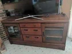 $80   Wood media cabinet