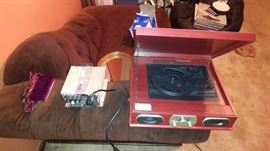 Record player. 30 amp charger