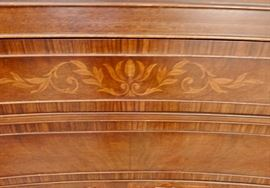 NICE INLAY AND DETAILING ON DINING ROOM PIECES