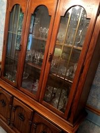Also A Pretty Lighted China Cabinet...