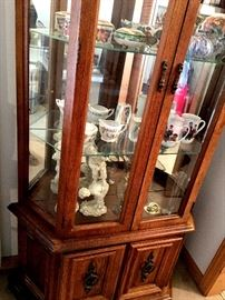 annnnd...A Lighted Curio Cabinet...