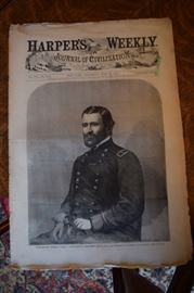 Ulysses S Grant Surrender, Original Issue 1863 Harper's Weekly