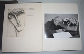 """Artist: Dellas Henke,Title: HD Within The Walls: Wood Engravings,Dimensions: approx. 6"""" x 8"""",Media: Illustrated book  Date: 1993,Notes: signed by Dellas Henke"""