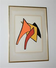 Artist: Alexander Calder, Title: Derriere Le Miroir Media: Print