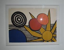 "Artist: Alexander Calder, Untitled,Dimensions: approx. 18 x 21"",Media: Print,Notes: Artist signed original"