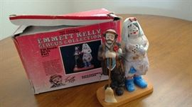 Emmett Kelly Collection/ one of 15 figurines