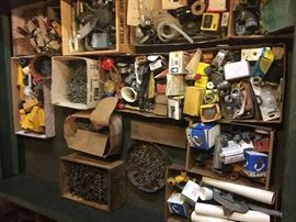 Carpentry, plumbing and electrical supplies