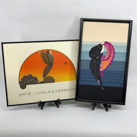 Erte Framed Print & Scarf       https://ctbids.com/#!/description/share/45039