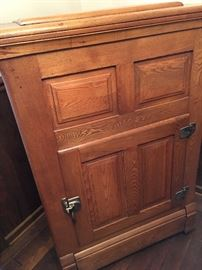 A MUST SEE Antique Ice Box!...