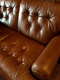 SO COMFY Vintage Leather 3 Cushion Sofa...