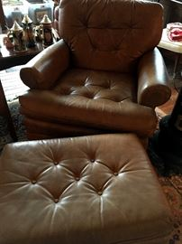 AND Matching Chair and Ottoman!...