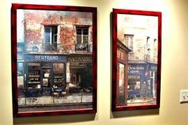 Large framed prints.