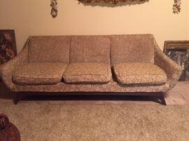 1950s 3 cushion sofa