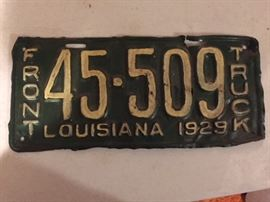 1929 truck license plate--it has been repainted