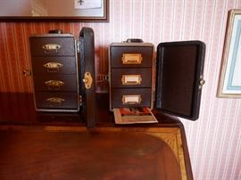 Antique slides and slide case