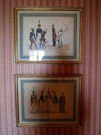 Set of 8 18th and 19th century soldier prints from the Plesheff Estate originally $1750 asking $800 for the set