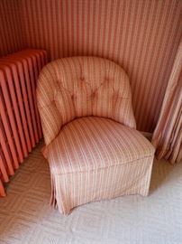 Custom upholstered slipper chair asking $160