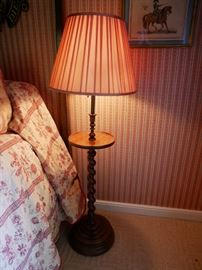 Mahogany Barley Twist lamp with table asking $600