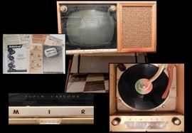 Admiral TV - AM Radio - Phonograph from the 1950's. Model RC654.  Everything works!