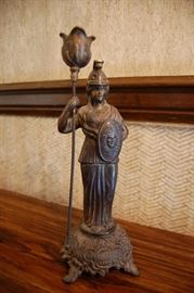 Bronze statue from 1904 Priests of Pallas Ball in Kansas City
