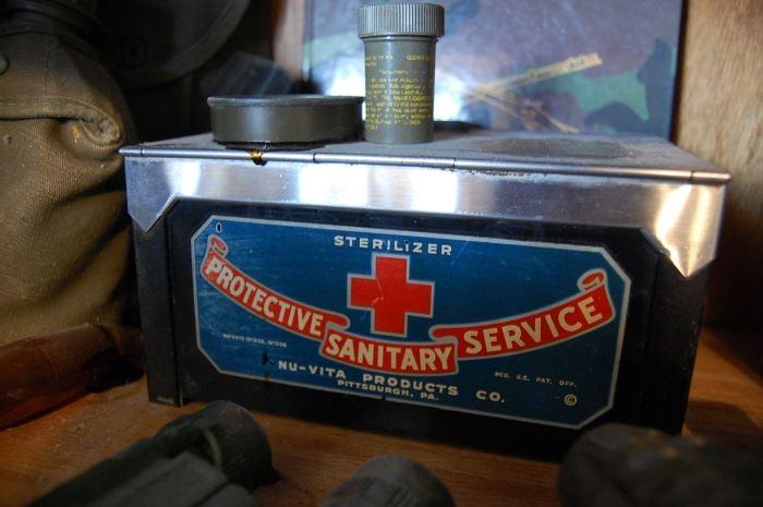 Rare barber counter razor sterilizer