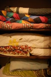 Quilts, chenille bedspreads