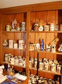 Large German beer stein collection
