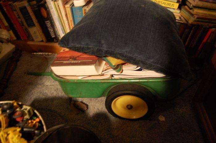 Vintage John Deere pedal tractor trailer