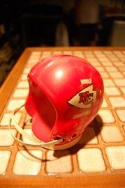 Vintage 1960's chalkware KC Chiefs helmet bank
