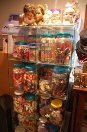 Vintage Toys, glass store display