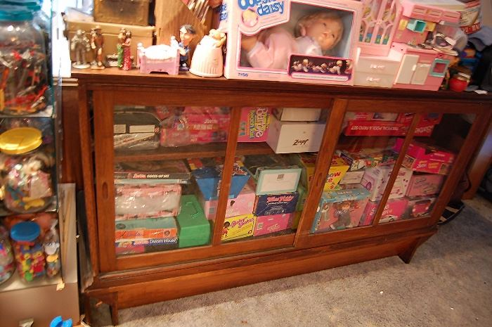 Nice Antique oak display cabinet from country store