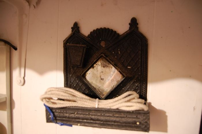 Punched tin comb holder / mirror