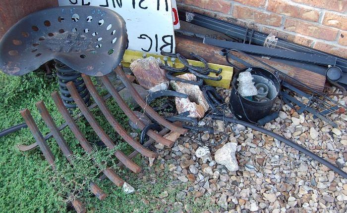 Tractor seat, INsualtors, etc.
