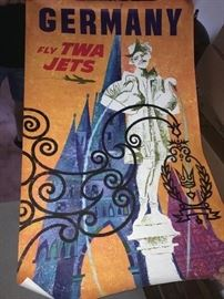Vintage TWA poster