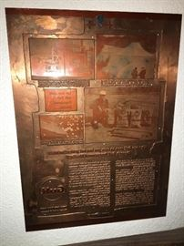 Gulf Advertising Copper Printing Plate