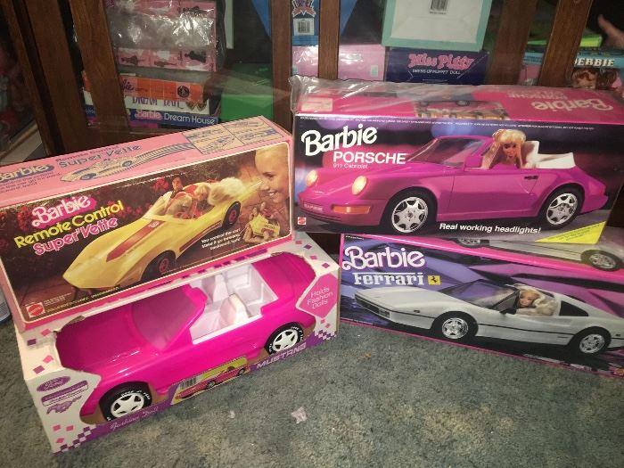 Vintage Barbie Vehicles