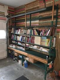 Country store primitive shelving