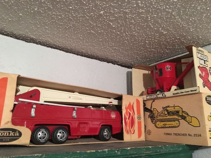 Vintage Tonka Toys and Trucks in Original Boxes