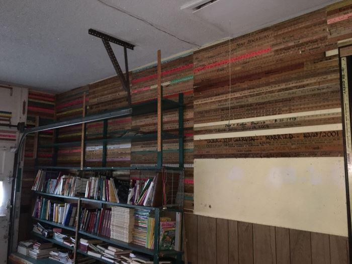 Massive autographed yardstick collection