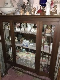 Antique China Cabinet packed full!