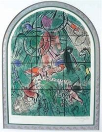 "#89 - Marc Chagall Original Lithograth ""Tribe of Gad"", Hand Signed and Numbered"