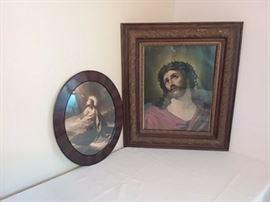 Antique Framed Prints of Jesus