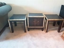 Brass Accented End Tables