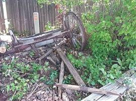 Primitive Back End of Wagon