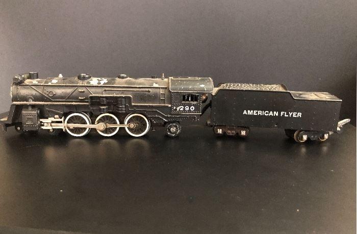 Vintage American Flyer toy steam engine