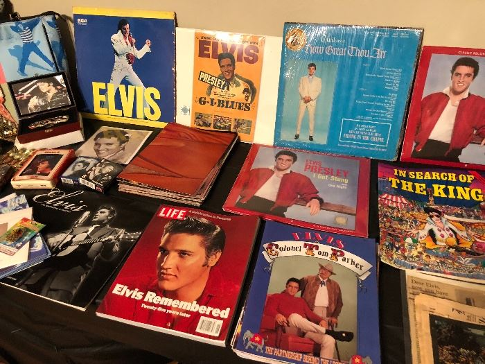 Elvis Collectibles both new and vintage